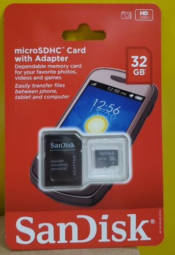 SanDisk 32GB Micro SD HC Card with Adapter Class 4