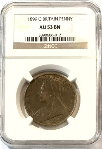 GREAT BRITAIN - Queen Victoria - One Penny - 1899 - Km-790 - NGC AU53BN