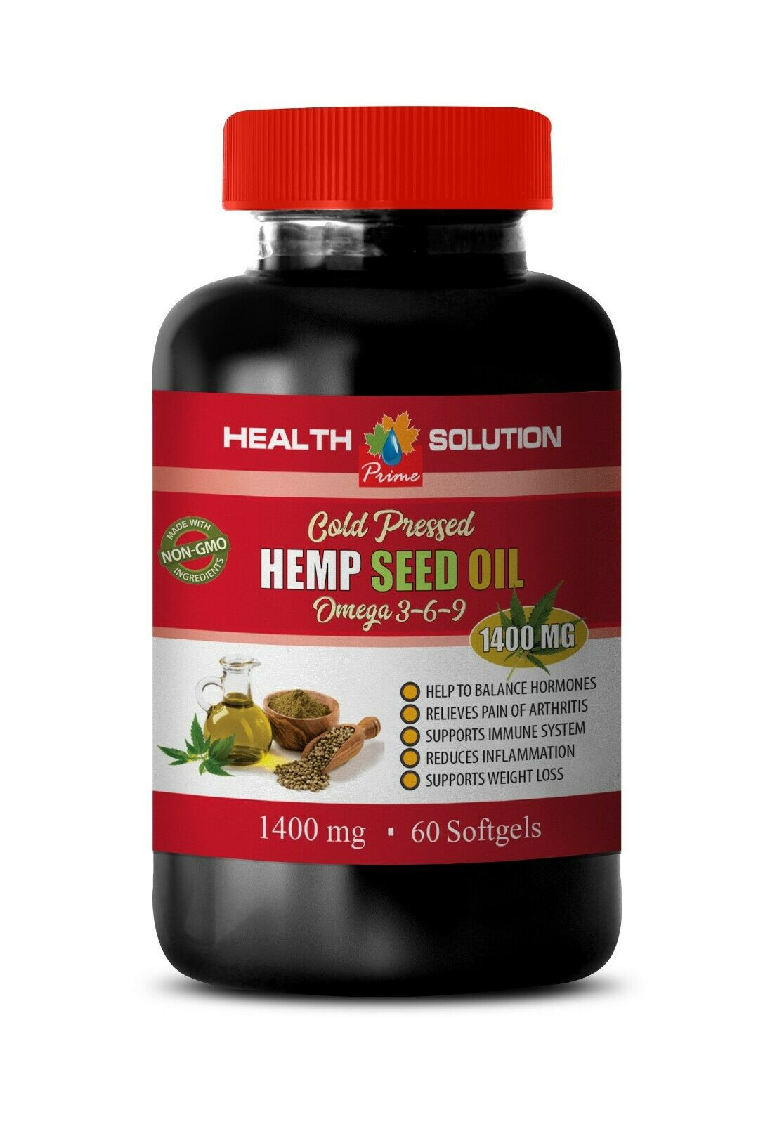 hemp oil relief - ORGANIC HEMP SEED OIL 1400MG 1B- pain relief supplement