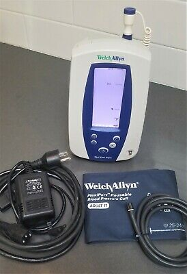Welch Allyn 420tb Spot Vital Signs Monitor W Nibp Temp W Battery Oem