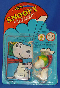 Vintage SNOOPY FIGHTER ACE PARATROOPER #666 Mint In Package MIP AVIVA 1970's