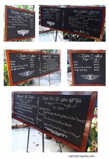 chalkboard artist blackboards a frames signs vintage Beenleigh Logan Area Preview