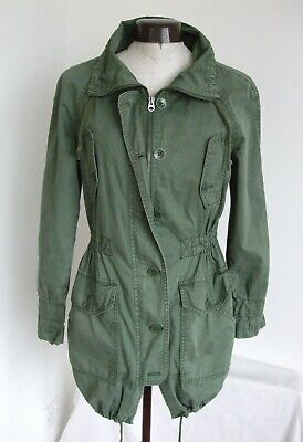 GAP GREEN COAT SMALL SIZE 6 COTTON USED GOOD CONDITION