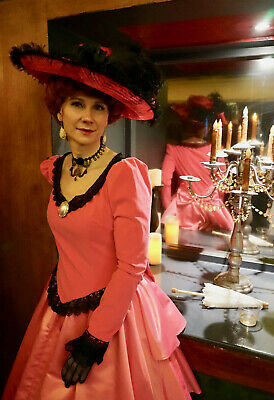 Edwardian Halloween Costume (Halloween Von Lancelot Pink Ball Gown Victorian Sz 8 M DressEdwardian)