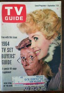 1963 TV Guide September 7 - Beverly Hillbillies Irene Ryan Donna Douglas