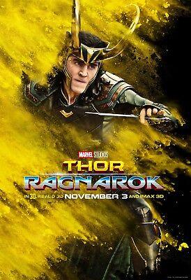 Thor Ragnarok Movie Poster  24X36    Chris Hemsworth  Tom Hiddleston  Loki V7