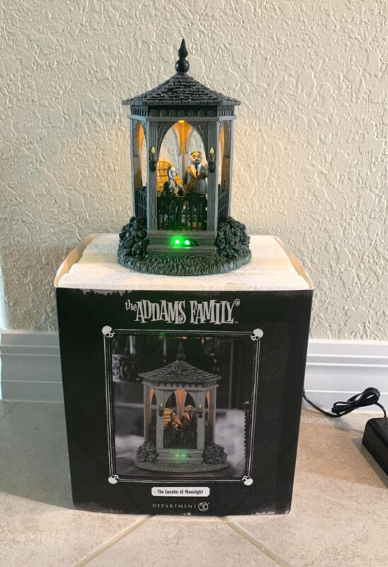 Department 56 The Addams Family Village The Gazebo at Midnight Figurine 6005626