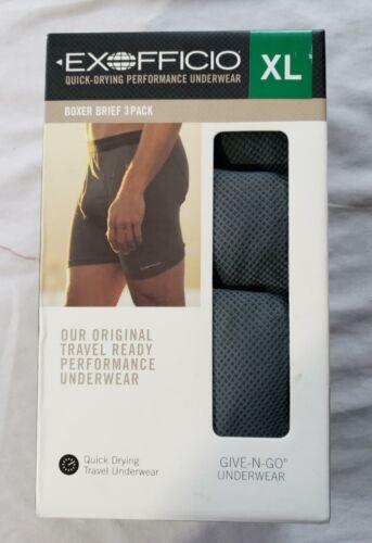 Exofficio Men's 3 Pack Quick Drying Performance Boxer Briefs