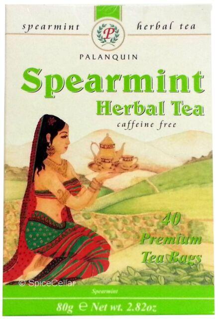 Spearmint Herbal Tea - 240 Tea Bags (6 Boxes) - Palanquin Brand