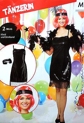 30er Jahre Kostüm (Tänzerin Kostüm Karnevalskostüm Faschingskostüm 2-tlg 20er 30er Jahre S M NEU)