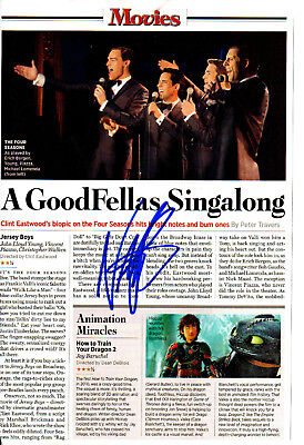 VINCENT PIAZZA - Actor - Jersey Boys / Boardwalk Empire - Autograph Clipping