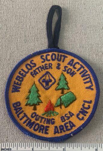 Vintage 1970s BALTIMORE AREA COUNCIL Boy Scout PATCH Father & Son Camp BSA