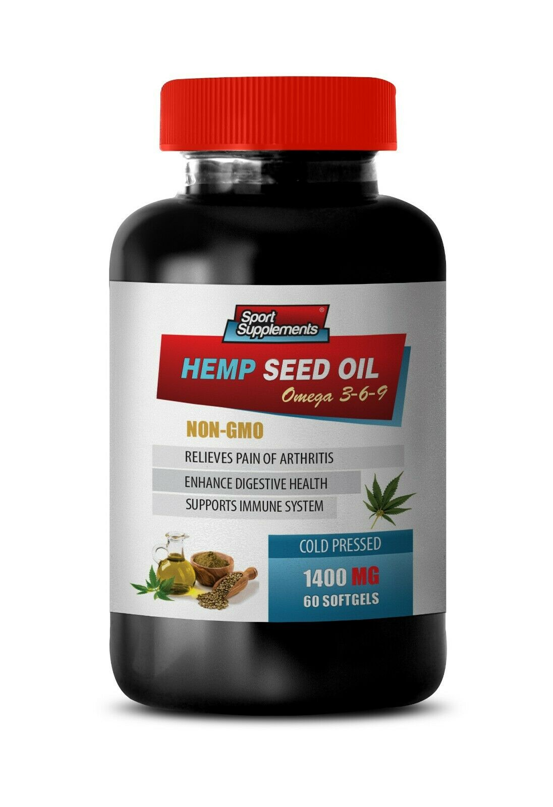 soothe join pain - ORGANIC HEMP SEED OIL 1400mg (1) - dietary supplement