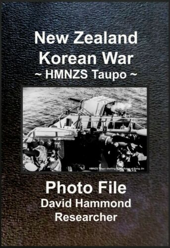 KOREAN WAR 1950s HMNZS Taupo in live action: Set of 60 Photos