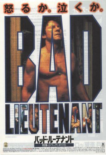 Bad Lieutenant 1992 Abel Ferrara Chirashi Flyer Poster B5 Japan