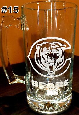 Laser Engraved Beer - CHICAGO BEARS sport Beer Mug 26.5 oz Personalized Laser  Engraved FREE SHIPPING