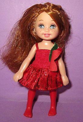 Barbie Happy Family Baby Kelly Holiday Christmas Poinsettia Redhead HTF Doll!