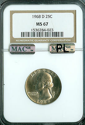 Click now to see the BUY IT NOW Price! 1968 D WASHINGTON QUARTER NGC MAC MS67 PL PQ SPOTLESS .
