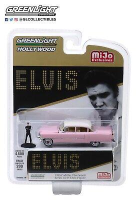 Greenlight 1/64 Elvis 1955 Cadillac Fleetwood Series 60 with Figure 51210 ()