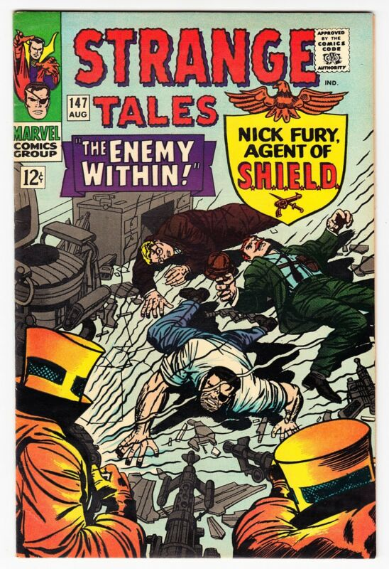 STRANGE TALES #147 NICK FURY KIRBY AND EVERETT VF+ 1966