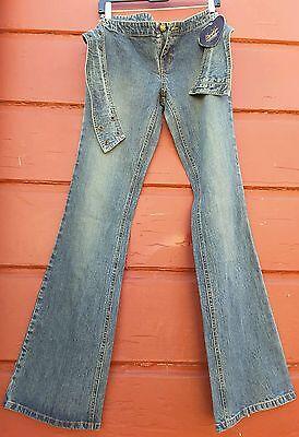 Stretch denim bell bottoms 90s boot cut unisex burner fashion wide belt jean wow