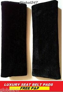2-BLACK-PINK-car-seat-belt-pads-seatbelt-covers-new-car-or-van-accessories