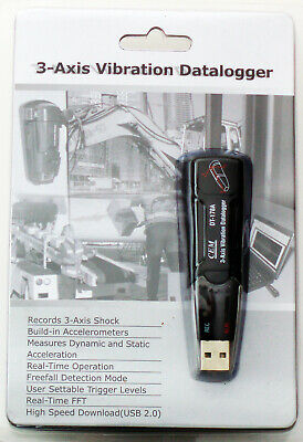 Dt-178a 18g 3-axis Vibration Datalogger Accelerometer 4 Mb Memory 1000 Hours New