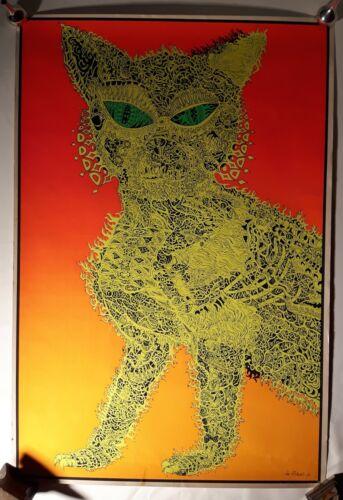 Psychedelic Cat Vintage 60