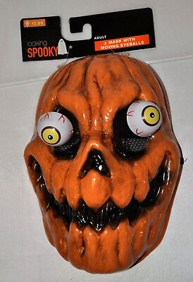 Googly Eyes Halloween Face (Pumpkin Skull Face Mask Googly Eyes Halloween Decoration Party Adult Costume)