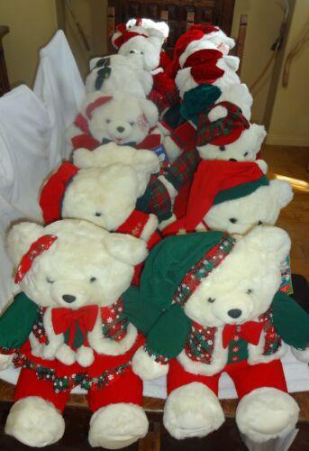Vintage 1994-2003 Collection Walmart Christmas Snowflake Teddies -  20 Bears