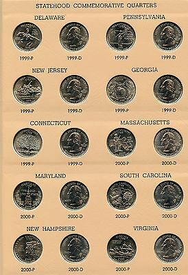 State Quarters 1999   2008 Coin Set Collection   Dansco Album 7143   Jn893