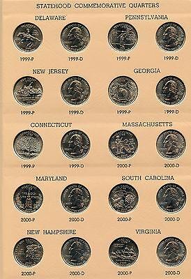 1999   2008 State Quarter Set   Coin Collection   7143 Dansco Album   Jn893