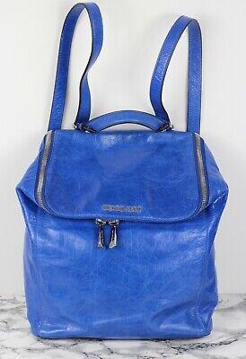 MICHAEL KORS Electric Blue Leather Backpack Rucksack Shoulder Bag