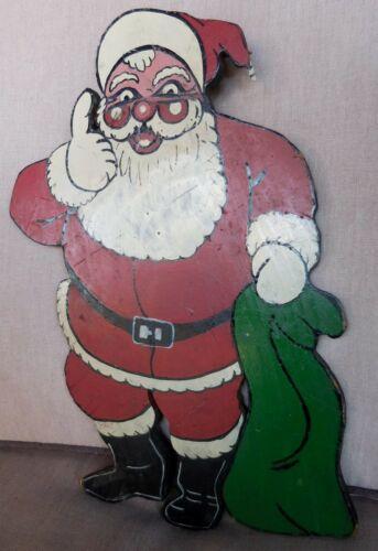 Hand Made & Hand Painted Santa Claus Folk Art Display Plaque