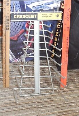 Vintage CRESENT Tools Hardware Store Display Sign Rack for open end Wrenches