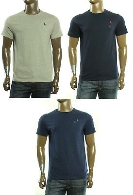 - New Mens Polo Ralph Lauren Pony Logo Custom Fit Crew Neck Cotton T Shirt Tee