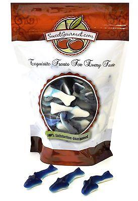 Shark Candy (SweetGourmet Kervan Blue Small Gummi Sharks Candy (2.5