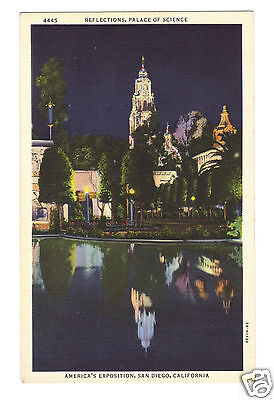 1935 Palace Of Science California Pacific Exposition San Diego  Ca
