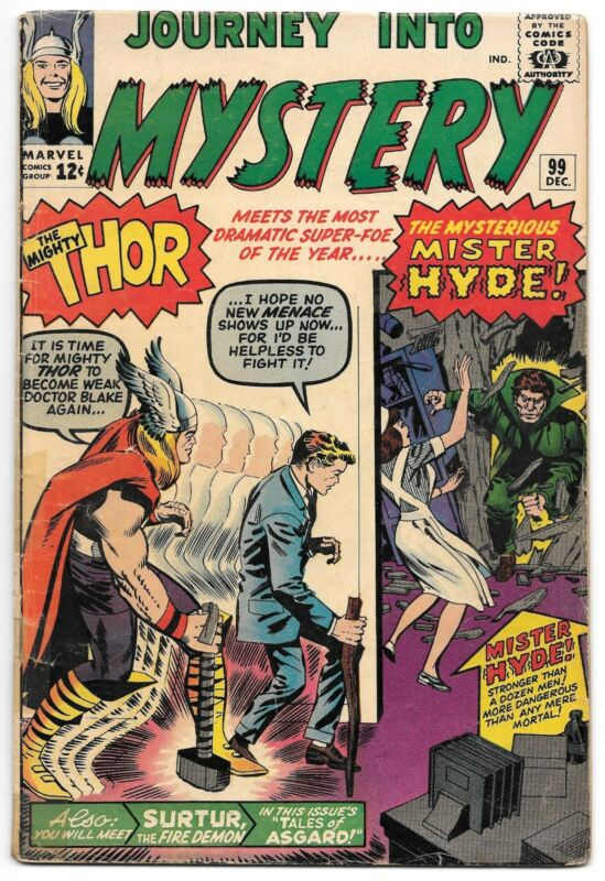 JOURNEY INTO MYSTERY 99 (VG) - Thor and Mister Hyde