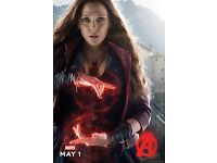 Avengers 2 Age of Ultron Movie Poster 24x36 Scarlet Witch Elizabeth Olsen
