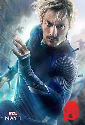 tron Movie Poster 24x36 - Quicksilver, Aaron Taylor-Johnson (Avengers Age Of Ultron Quicksilver)