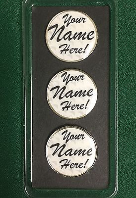 Personalized Golf Ball Markers - Set of 3