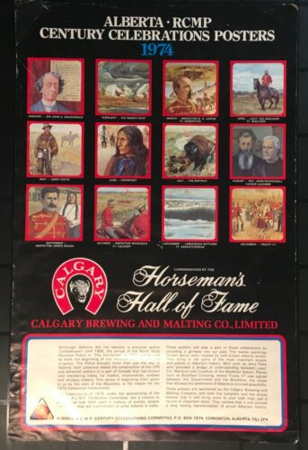 Vintage Rare Set Of 12 ALBERTA RCMP CENTURY CELEBRATIONS POSTERS 1974