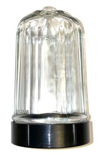 Vintage Clear Glass Sugar Dispenser Shaker Bullet Screw on Bottom 1949 RARE