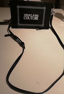 Versace Jeans Couture Bag Women's cross body or clutch bag. Black designer bag