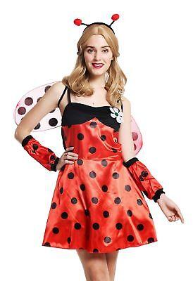 Kostüm Damen Damenkostüm Frauen Marienkäfer Ladybug Flotter Käfer Gr. S/M W-0058 ()