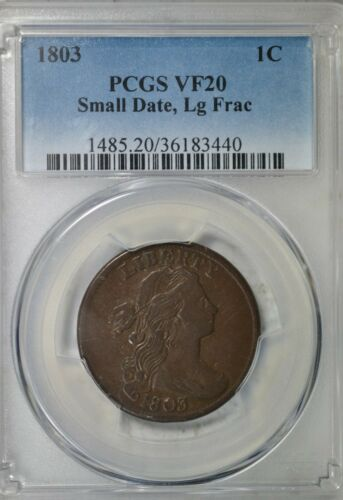 1803 Draped Bust large cent, PCGS VF20