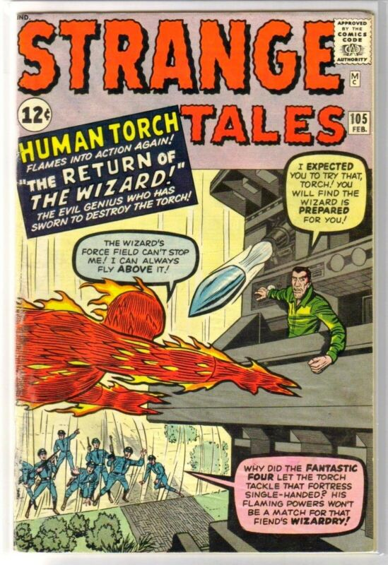 STRANGE TALES #105 The Return of the Wizard! Torch! Marvel Comic Book ~ G