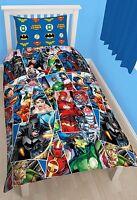 Justice League Invincible Funda Edredón Individual Reversible Súper Heroe -  - ebay.es