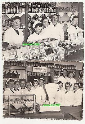 2 x Foto DDR Deli Geschäft Feinkost Lebensmittel Dresden Reklame um 1950/60 ! online kaufen